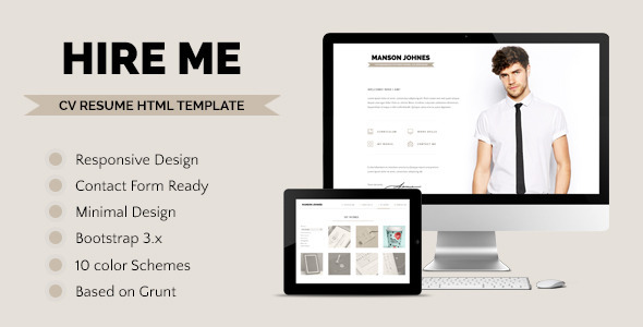 Top 7 Resume, CV And Portfolio PSD Templates