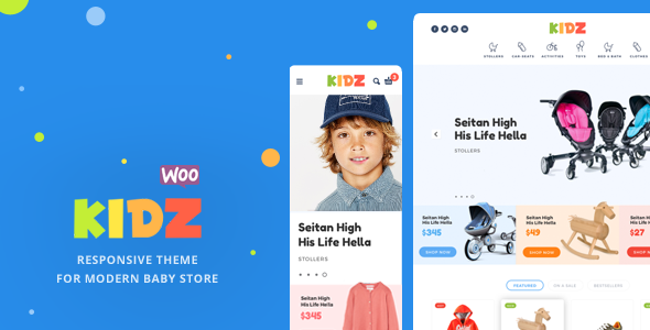 5+ Baby & Kids Store WooCommerce WordPress themes